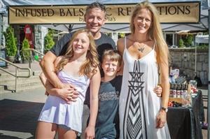 Strim Family at Farmers Market Whistler BC
