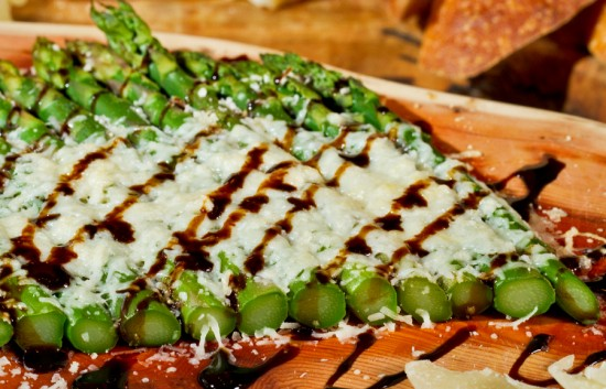 oven roasted asparagus with melted parmesan
