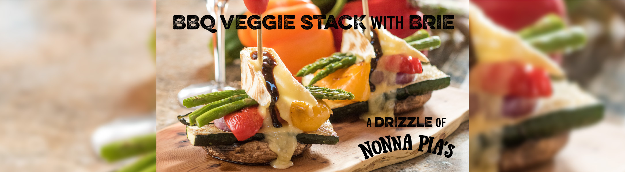 grilled grilled stack with brie cheese
