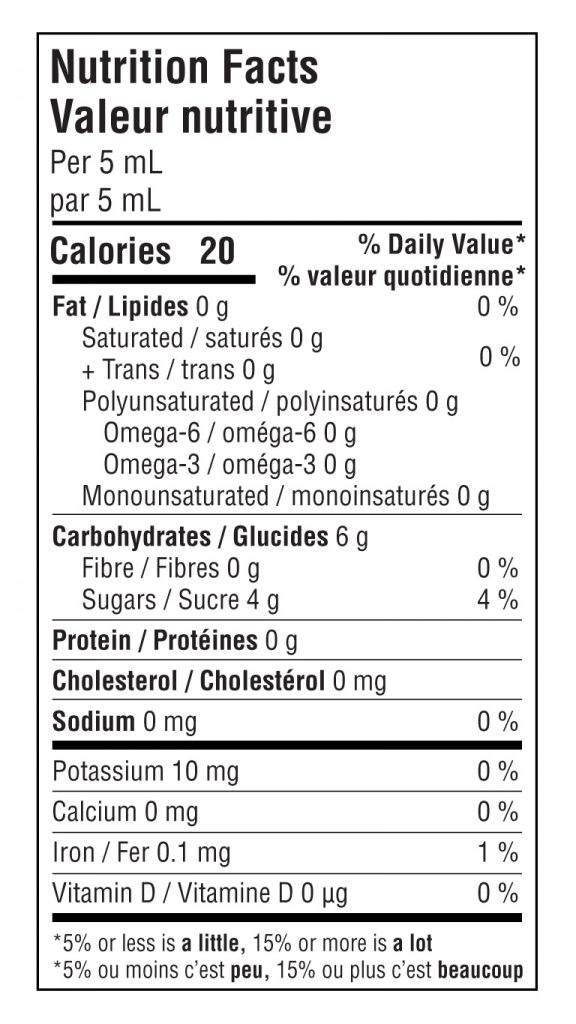 classic nutritional info